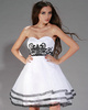 Fantastic A-line Strapless Short/Mini Appliques Graduation/Homecoming Dresses