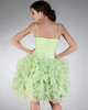 Elegant Ball Gown Organza Knee-length Cascading Ruffle Prom/Cocktail Dresses