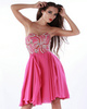 Fabulous A-line Chiffon Sweetheart Crystal Cocktail/Sweet 16 Dresses