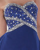 Great A-line Chiffon Sweetheart Rhinestone Prom/Cocktail Dresses