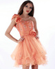 Outstanding A-line Organza One shoulder Flower Cocktail/Sweet 16 Dresses