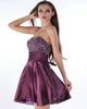 Snazzy A-line Stretch Satin Sweetheart Rhinestone Cocktail/Sweet 16 Dresses