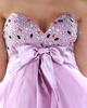Fabulous A-line Tulle Knee-length Bowknot Homecoming/Sweet 16 Dresses