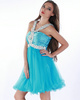 Fantasy A-line Tulle Short/Mini Crystal Prom/Homecoming Dresses