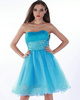 Fantastic A-line Tulle Tube Top Sequin Cocktail/Homecoming Dresses