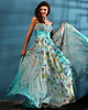 Graceful A-line Chiffon Floor-length Crystal Print Prom/Evening Dresses
