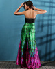 Glorious Sheath/Column Satin Sweetheart Print Prom/Evening Dresses
