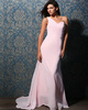 Terrific Sheath/Column Chiffon One shoulder Court Train Prom Dresses