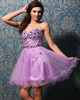 Beautiful A-line Tulle Sweetheart Crystal Sweet 16 Dresses