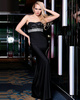 Magnificent Sheath Stretch Satin Strapless Floor-length Crystal Evening/Prom Dresses