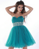 Amazing A-line Tulle Short/Mini Beading Cocktail/Homecoming Dresses