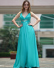 Elegant A-line Chiffon V-neck Floor-length Evening Dresses