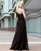 Elegant A-line One shoulder Floor-length Sequin Chiffon Evening Dresses