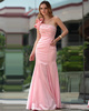 Elegant Mermaid/Trumpet One shoulder Floor-length Beading Taffeta Evening Dresses