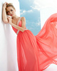 Fantasy A-line Chiffon One shoulder Beading Prom Dresses