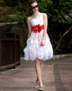 Glamorous Ball Gown Tulle Knee-length Pick-Ups Graduation/Sweet 16 Dresses
