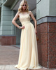 Glamorous Sheath/Column Chiffon Scoop Beading Prom/Evening Dresses