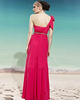 Gorgeous Sheath/Column One shoulder Floor-length Beading Evening Dresses