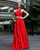 Gorgeous Sheath/Column One shoulder Floor-length Rhinestone Prom/Evening Dresses