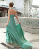 Graceful A-line Halter Court Train Draped Prom/Evening Dresses