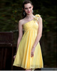 Lovely A-line One shoulder Knee-length Flower Cocktail/Prom Dresses