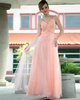 Western Saloon Girl Style Wedding Dresses Noble A-line Tulle V-neck Criss-cross Prom/Evening Dresses