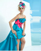 Perfect A-line Satin Scalloped-edge Bowknot Prom Dresses