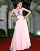 Perfect Sheath/Column Chiffon Bateau Floor-length Prom/Evening Dresses
