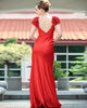 Perfect Sheath/Column Chiffon V-neck Floor-length Prom/Evening Dresses