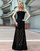 Sexy Sheath/Column Lace Tube Top Floor-length Prom/Evening Dresses