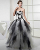 Princess Strapless Floor-length Tulle Beading Lace Prom Dresses