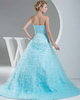 Ball Gown Strapless Brush Train Tulle Tiered Evening Dresses
