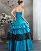 Princess Strapless Floor-length Stretch Satin Beading Prom Dresses