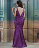 Mermaid V-neck Floor-length Taffeta Evening Dresses
