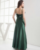 A-line Sweetheart Floor-length Stretch Satin Long Sleeve Beading Prom Dresses With Jacket