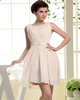 logoff Column Bateau Short Chiffon Crystal Bridesmaid Dresses