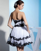 Ball Gown Strapless Short Organza Sequin Cocktail Dresses