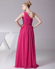 A-line One Shoulder Floor-length Chiffon Beading Evening Dresses With Sequin