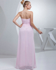 Column Strapless Floor-length Chiffon Beading Prom Dresses