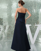 A-line Sweetheart Floor-length Elastic Silk-like Satin Evening Dresses With Side-draped
