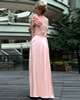 Noble Sheath/Column Chiffon Floor-length Flower Prom/Evening Dresses