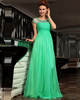 Perfect A-line Chiffon Bateau Crystal Evening/Prom Dresses