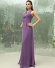 Fabulous Sheath/Column Chiffon Floor-length Tiered Evening Dresses