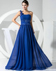 Bravo A-line Chiffon One shoulder Beading Evening/Prom Dresses