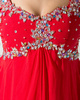 Impressive A-line Chiffon Off-the-shoulder Crystal/Rhinestone Evening/Prom Dresses