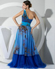 Stunning A-line Chiffon One shoulder Flower Evening/Prom Dresses