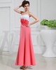 Excellent Mermaid/Trumpet Chiffon Ankle-length Flower Prom Dresses