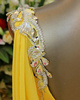 A-line Scoop Jewelry Straps Sweep Train Chiffon Rhinestone Backless Prom Dresses