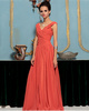 Sheath Straps Floor-length Chiffon Wrap Pleats Prom Dresses