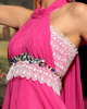 A-line Halter Floor-length Chiffon Lace Beading Prom Dresses